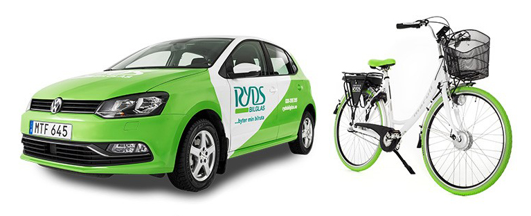 Lånebil & cykel